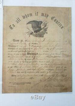 CIVIL WAR COMMISSION 121 regiment NY VOLUNTEERS 1863, 1864, 1865 documents