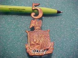 CIVIL WAR UNION M-1858 DURYEA'S 5 TH NEW YORK REGT. ZOUAVES KEPI -HAT BADGE see