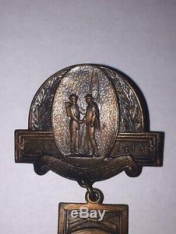 CIVIL War 1913 Gettysburg 50 Year Reunion New York Medal Badge Pin Gar