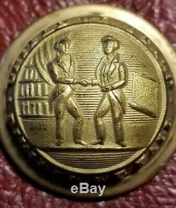 CIVIL War Confederate Kentucky Coat Button Schuyler H&g New York