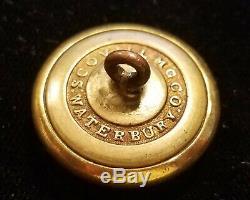 CIVIL War Era 2 Pc New York 71st Regiment Coat Button Alberts# Ny-61-a Gilded