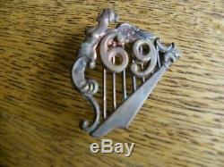 CIVIL War Era 69th New York Irish Brigade Soldiers Harp Hat Insignia