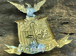 CIVIL War Era 79th New York Excelsior Hat Badge Insignia
