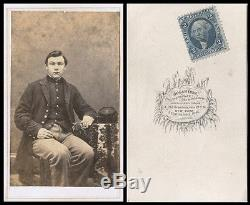 CIVIL War Era CDV Photo Portrait Of Union Soldier & Bogardus, New York Studio