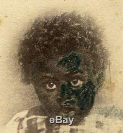 CIVIL War Era Cdv, African American Child By E. Anthony, N. Y