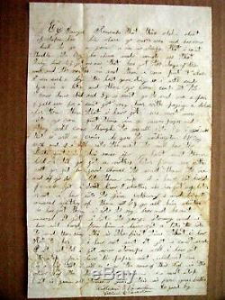 CIVIL War Letter Killed In Action Georgia 107th New York