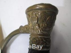 CIVIL War Militia Model 1860 Us Officers Sword With Scabbard Ny Maker Etch #j13