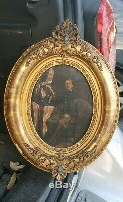 CIVIL War Officer Cadet Photo 1862 Mil. Academy Ny Gilt Frame Museum Item Id'd