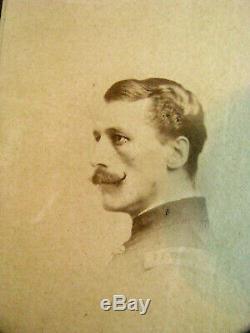 CIVIL War Rockwood Photography Union Army Captain CDV Photo New York