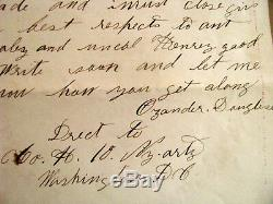 CIVIL War Soldier Letter Ny Written On Song Cover Winchester Va
