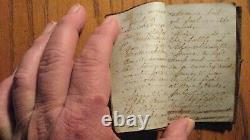 CIVIL War Soldiers Handwritten 1863 Diary Wm. Hilborn 86th Ny Vols, Gettysburg