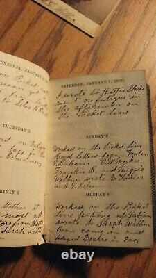 CIVIL War Soldiers Handwritten 1865 Diary 109th Ny Volunteers Plus Photo
