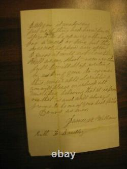 CIVIL War Soldiers Letter, 109th Ny Volunteer Inf. Annapolis Junction MD 7/12/63