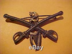 CIVIL War Union 2nd Cavalry New York Irish Kepi Or Hat Cap Emblem