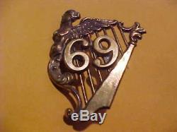 CIVIL War Union 69th New York Irish Brigade Kepi Hat Emblem