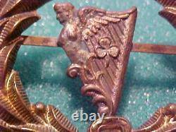 CIVIL War Union New York Irish Brigade Lyre Kepi Hat Emblem Wreath Type 2