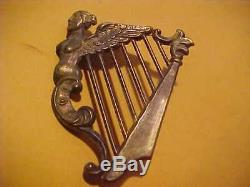 CIVIL War Union New York Irish Brigade Officer's Kepi Hat Emblem # 2