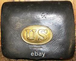 CIVIL War Us Army M1855 C. S. Storms Maker, N. Y. Cartridge Box Vintage Original