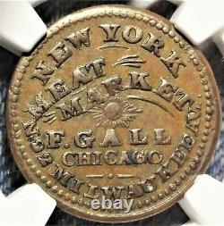 Chicago Illinois F. Gall Civil War Store Card Token IL 150Y-1a NY Meat Market