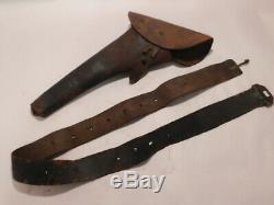 Civil War 1861 Pittman N. Y. Holster for Colt 1890 Army belt SN'ed buckle holder