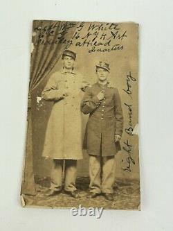 Civil War 2 Union Soldiers Identified CDV Photo 16th N. Y. H. A Heavy Artillery