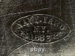 Civil War Artillery Fuse Box from the Navy Yard N. Y. Dated 1863