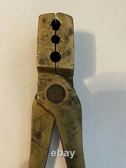 Civil War Brass Bullet Mold Marked J C Snell Binghamton NY