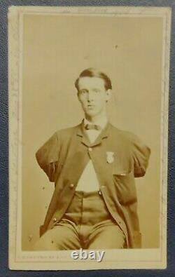 Civil War CDV Alfred Stratton Double-Amputee 147th NY Infantry wdd Petersburg VA