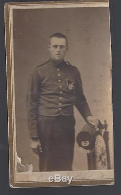 Civil War CDV Armed 44th New York Infantry Soldier Id'd