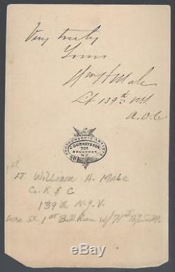 Civil War CDV Captain William Henry Male 71st NYSM & 139th NY Volunteers