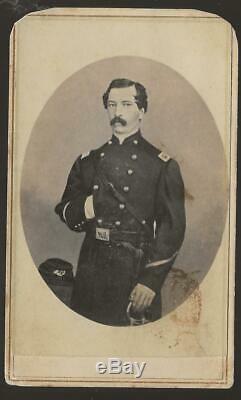 Civil War CDV Colonel William T C Grower 17th NY Vols KIA Jonesboro Ga