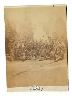 Civil War CDV Company D 29th NY Volunteers, Capt G Meiser & Lt Robt Stolpe