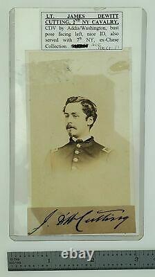Civil War CDV Lt. James DeWitt Cutting, 2nd NY Cavalry by Addison/Washington