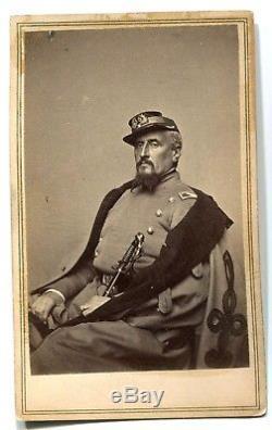 Civil War CDV Photograph of Regis de Trobriand, 55th NY, Fought at Gettysburg