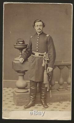 Civil War CDV Union Capt Gilbert Elliott 102nd NY Vols, Killed at Lookout Mtn