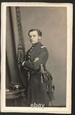 Civil War CDV Union Lt Thomas W B Hughes 99th New York Infantry WIA New Berne