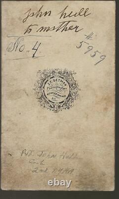 Civil War CDV Union Pvt John Hull 2nd New York HA DOD 1864