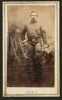 Civil War CDV Union Sgt Andrew J Lansing 22dn NYVI, 2nd NY Cavalry