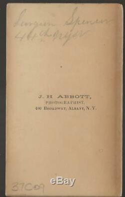 Civil War CDV Union Surgeon D Carlton Spencer 44th NY Vols Ellsworth Avengers