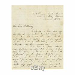 Civil War CDV of Capt Alfred Baldwin, 143rd New York + Letter to Soldier's Widow