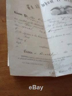 Civil War Discharge Document 13th New York Volunteers 1861 Brooklyn History Rare
