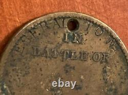Civil War Dog Tag Eseral Tow (Israel Tow) 164th Infantry New York black cook