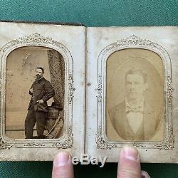 Civil War Era CDV Album With New York Soldier & New Orleans Area Family