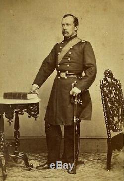 Civil War Era CDV Major Siegfried Von Forstner 3rd NJ Cavalry, 8th NY Infantry