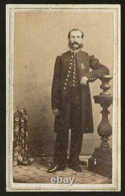 Civil War Era CDV Union Captain George L Cass 3rd NY Cav, 1st USCT Cav