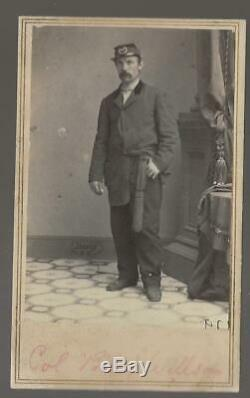 Civil War Era CDV Union Colonel Billy Wilson 6th New York Zouaves
