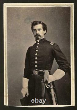 Civil War Era CDV Union Lt Henry B Hidden 1st NY Lincoln Cavalry KIA