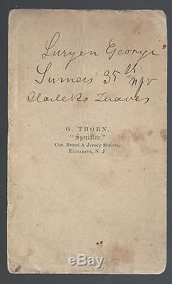 Civil War Era CDV of Union Lt Wallace M Sanborn 12th New York Cavalry
