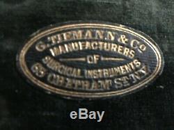Civil War Era G. Tiemann & Co. 63 Chatham St N. Y. Trepanning Trephine Kit with COA