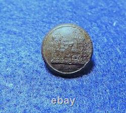 Civil War Federal New York 7th Regiment Engineers Button 15mm